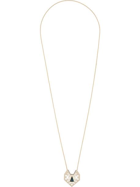 Noor Fares women necklace gold white grey metallic jewels