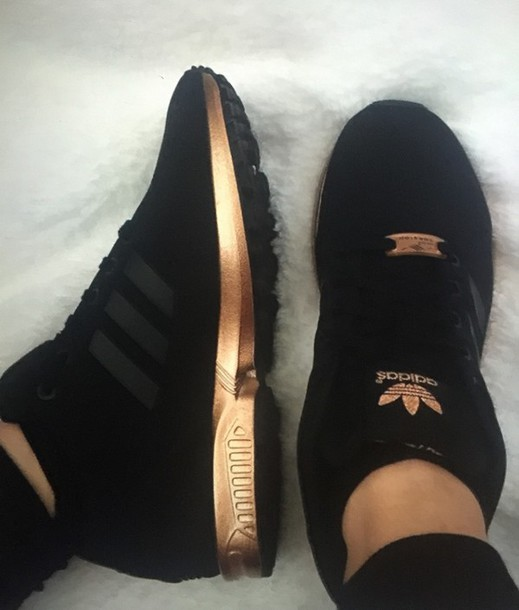 28dad72ff84a26 shoes adidas sneakers gold black