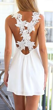 dress,white,floral,lace,skirt,sexy dress,cute dress,clothes,pretty,classy,elegant,women,fashion,backless,summer,beautiful,new,strawberrysanchampagne,white dress,lace dress,cross,floral dress,top,bottoms,spaghetti straps dress,summer dress,outfit,girly,sammydress,criss cross,zaful,girl,cross back dress,back detail,belt,backless dress,boho,summer outfits,festival,music festival,beach,beach dress