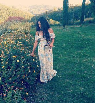 dress maxi dress vanessa hudgens summer summer dress summer outfits instagram floral maxi dress floral dress