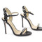 Beautiful sandals - black medium heel slingback sandals