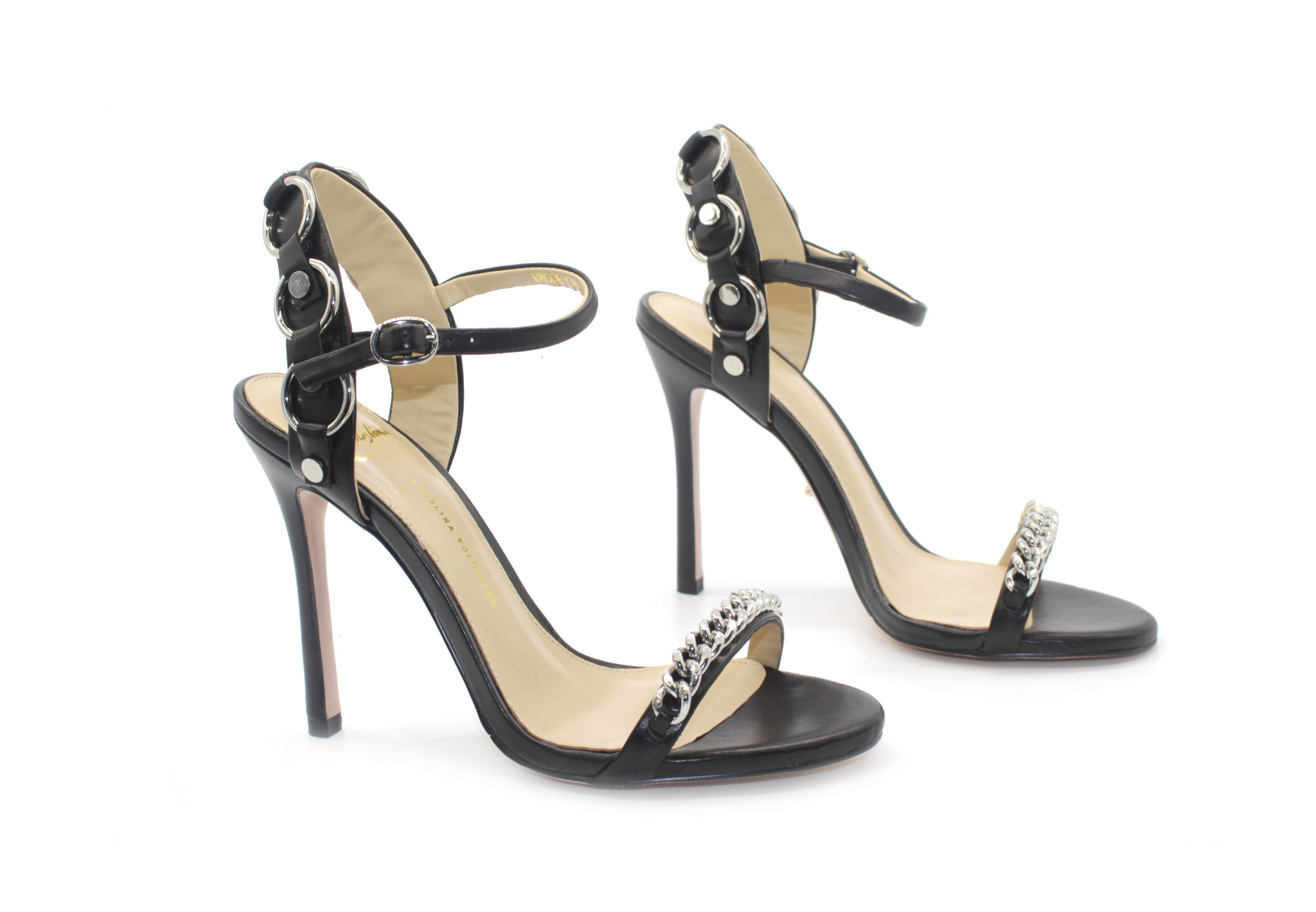 Beautiful Sandals - Black Medium Heel Slingback Sandals