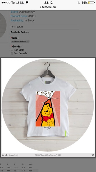shirt bear trendy cute winnie the pooh kawaii teenagers fashion style ilifestore