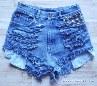 shorts studded shorts jeans ripped jeans ripped shorts frayed shorts