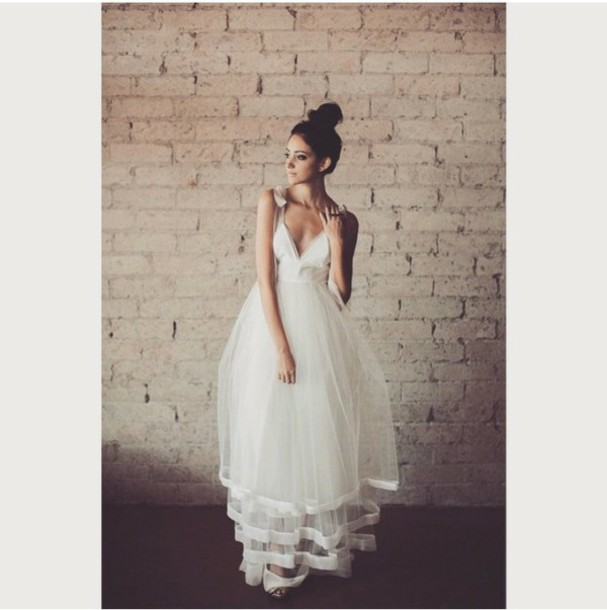 dress white dress casual dress prom dress wedding dress halter dress