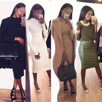 dress bodycon dress midi dress office outfits coat