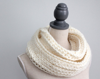 Popular items for infinity scarf cream on Etsy