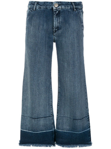 The Seafarer jeans cropped jeans cropped women spandex cotton blue