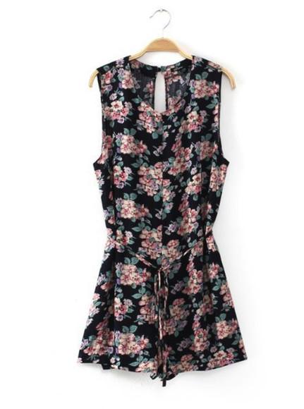 floral dress roses
