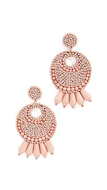 Kenneth Jay Lane gypsy earrings hoop earrings light pink light pink jewels