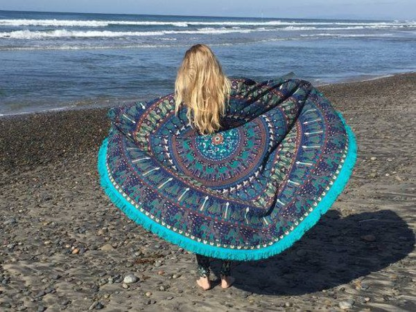 home accessory home decor beach roundies tapestry hippe burgundy boho mandala tapestry wall decor tapestry