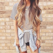 blouse,t-shirt,striped t-shirt,stripes,rayures
