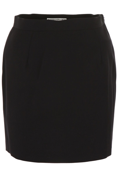 Alessandra Rich Mini Skirt in black