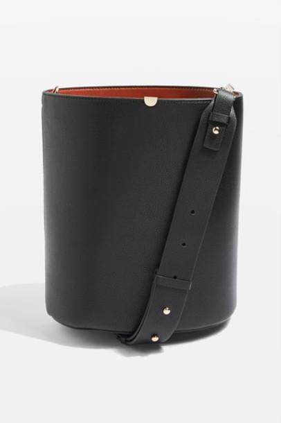 Topshop bag bucket bag black