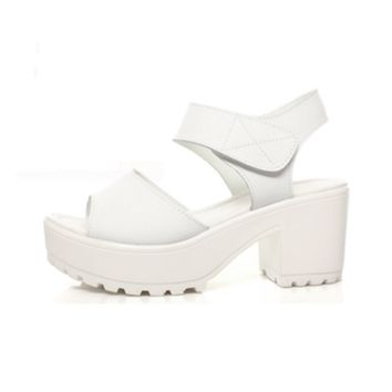Velcro Platform Sandal on Wanelo