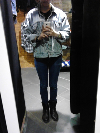 jacket jeans loose grunge jean jacket grunge punk blue jeans