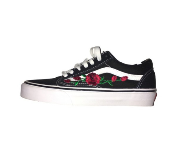 shoes rose patch vans old skool vans wheretoget. Black Bedroom Furniture Sets. Home Design Ideas