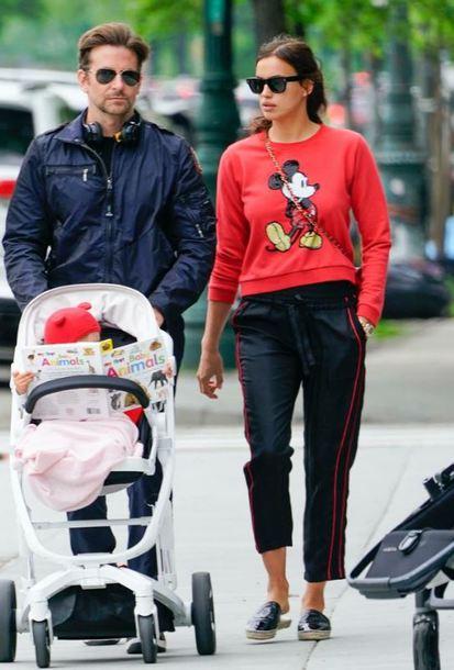sweater red irina shayk pants sunglasses streetstyle casual celebrity