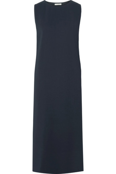 The Row - Lani Stretch-cady Midi Dress - Midnight blue