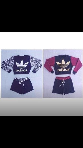 jumpsuit adidas red burgundy black white gold sweater sweatshirt jacket short shorts shorts short instagram slimjawn cool fashion