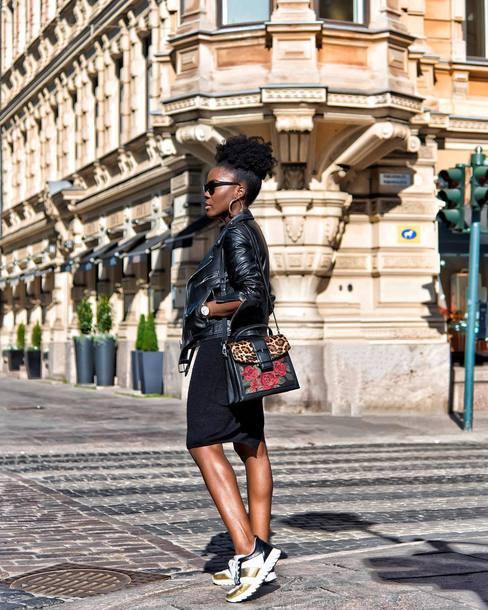 sunglasses shoes dress jacket black jacket bag black sunglasses