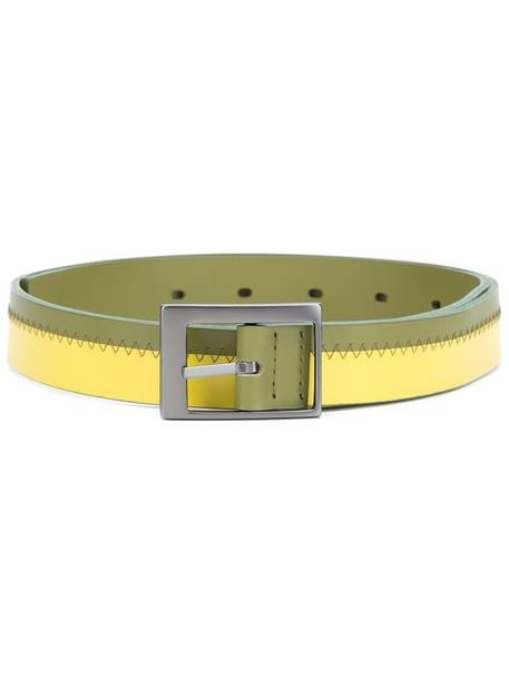Issey Miyake 'Ray' belt, Women's, Yellow/Orange, Leather