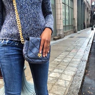 top bag purse chain jeans handbag sweater gold true religion jeans tory burch gap
