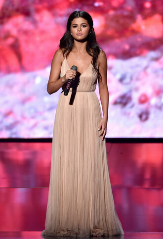 dress selena gomez gown nude prom dress american music awards nude dress