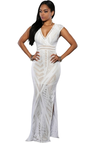 dress nude chic cocktail dress evening dress maxi dress white dress long dress party dress date outfit lace dress