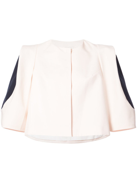 jacket cropped jacket cropped women nude cotton