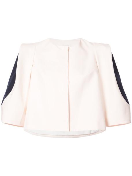 DELPOZO jacket cropped jacket cropped women nude cotton