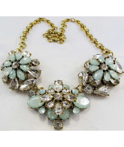 jewels statement necklace mint