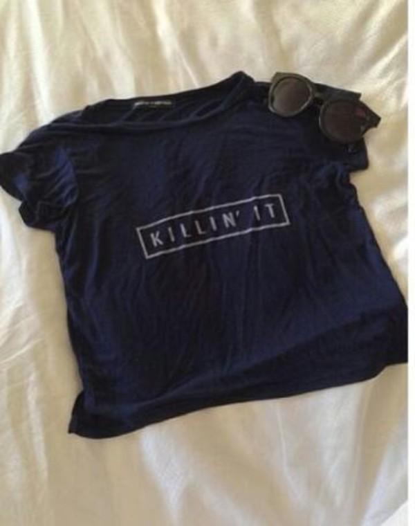 t-shirt crop tops black