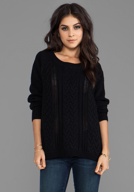 LOVERS   FRIENDS So Good Sweater in Black - Black