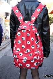 bag,eyes,red,backpack,eye,eyeball,red backpack,pinterest,tumblr