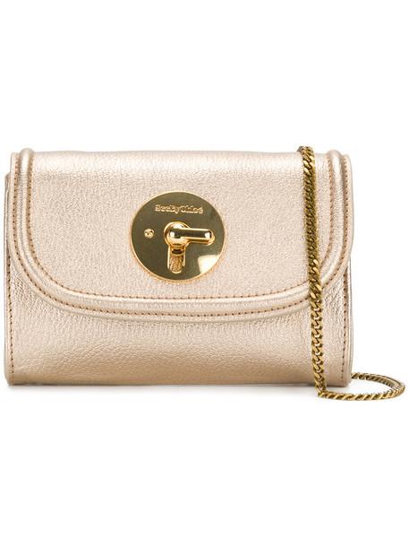 See by Chloe mini women bag cotton grey metallic