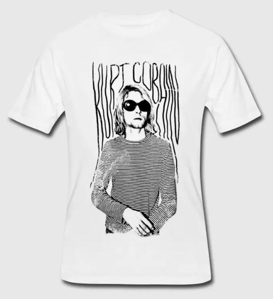 t-shirt kurt cobain nirvana seattle grunge music band rock shirt t-shirt usa american england france germany italy canada australia spain fashion style