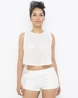 shorts crop tops outfit outfit set ivory