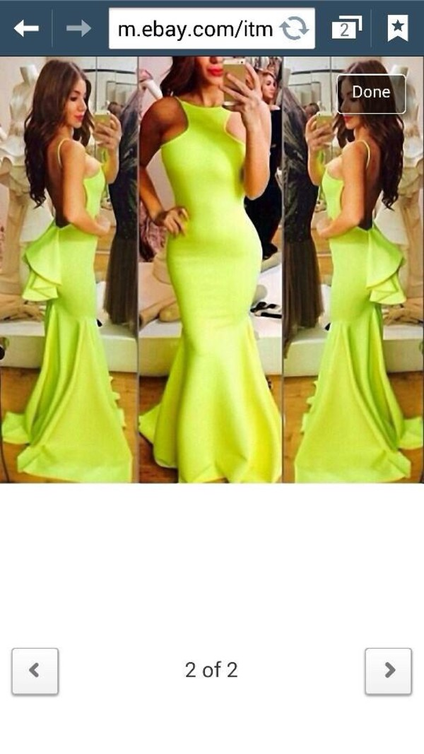 green formal classy elegant bright prom dress gown open back prom dress party dress formal dress yellow dress mermaid prom dress modern fashion spaghetti strap slim fit dress prom wedding dress tabu dress long lace green dress dress love sexy fluro green cold shoulder ballgown  long dress sexy long green ballgown dress dress want this for my prom this year mermaid prom dress neon yellow open back vanessawu