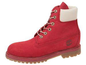 Timberland Womens 6 Inch Premium Red - Free Shipping. Easy Returns