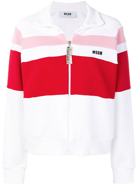 MSGM jacket women white cotton