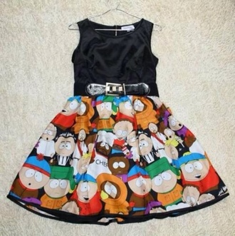 dress black southpark dress comedy central skirt south park clothes tumblr show cartoon