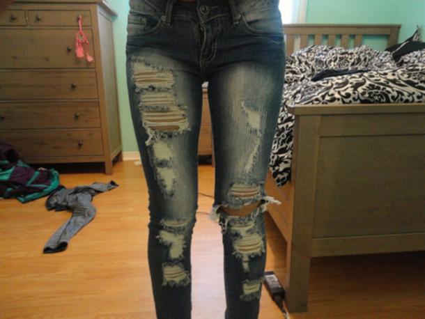 Как сделать свои джинсы прикольные 34
