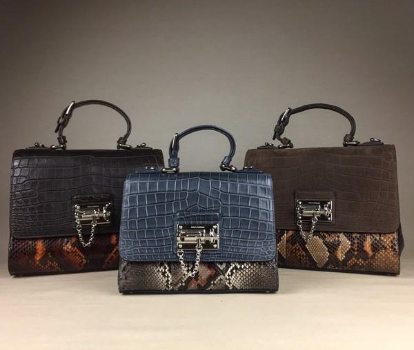 bag crocodile leather snake skin python handbag monica alligator