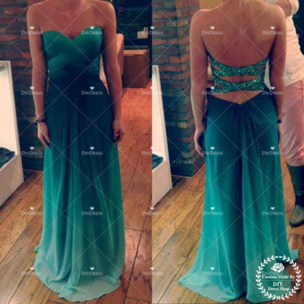 dress prom dress evening dress long prom dress ombre prom dress