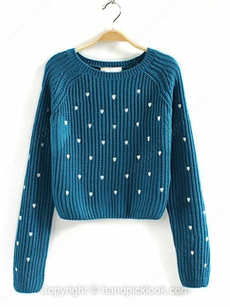 blue sweater sweater blue teal turquoise turquoise sweater aqua heart heart print heart pattern