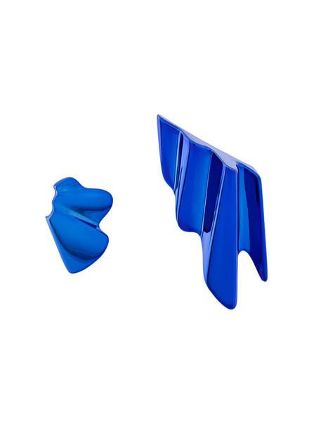 Saint Laurent metal women earrings blue jewels