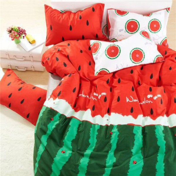 pajamas meloen melon watermelon print bedding bedding bedroom