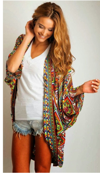 jacket bohemian hippie boho gypsy tribal pattern bohemian dress poncho comfy outfits