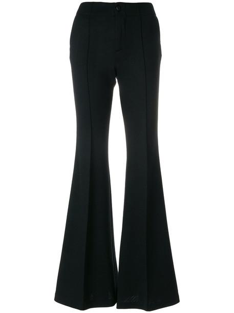 Pence high waisted high women black wool pants